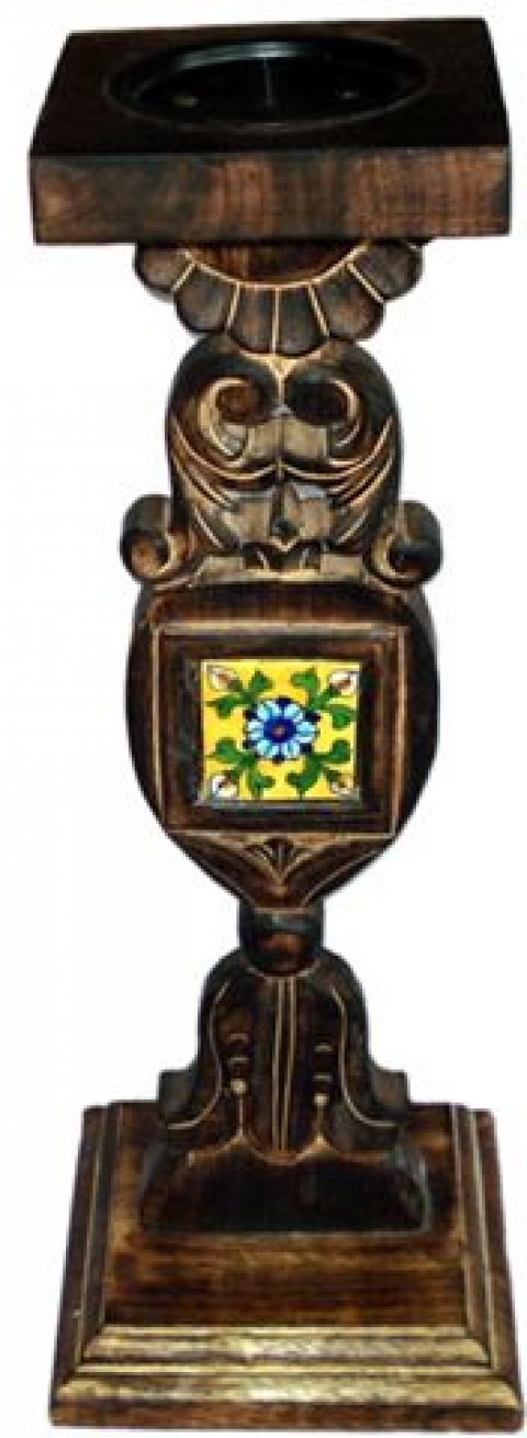Neerja Wooden candle Stand-05