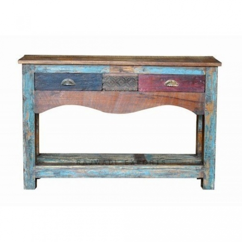 Elegant H Antique Wooden Console Table